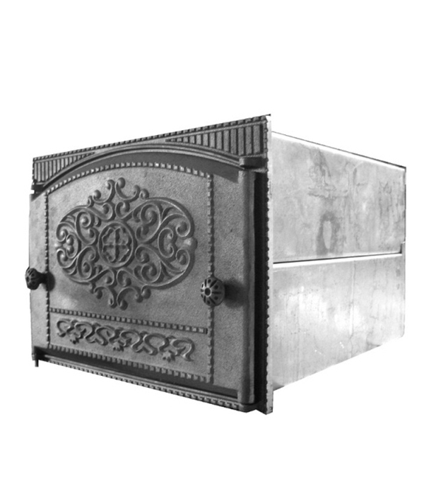 Духовка с чугунной каминной дверцей ДТК-2