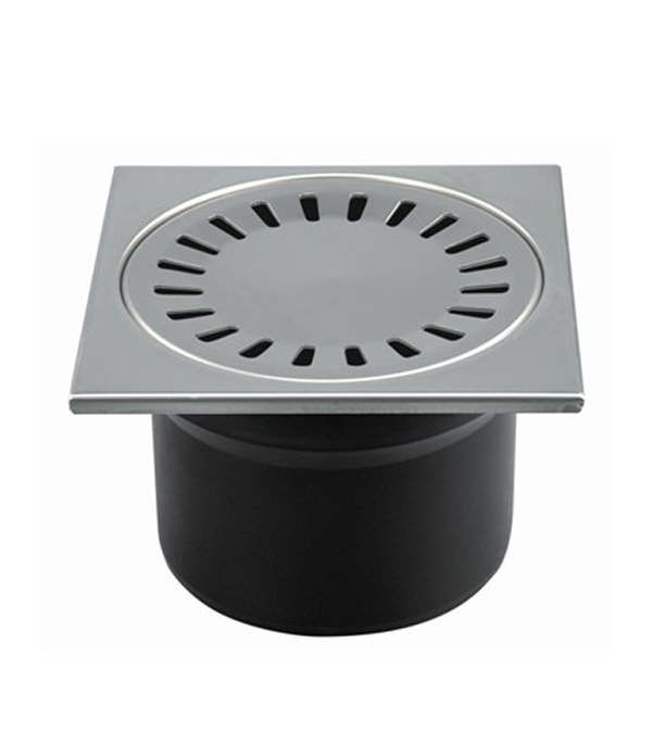 Трап прямой решетка сталь 150х150, 110 мм (гидрозатвор) Haco