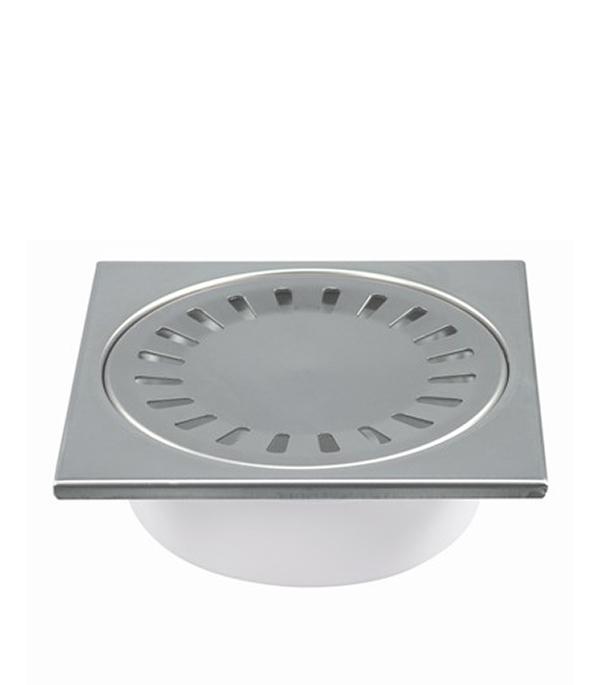 Трап прямой решетка сталь 150х150, 50 мм (гидрозатвор) Haco