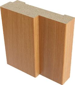 Коробка дверная ламинированная в комплекте Верда 21-8 Миланский орех 32х70 мм с зарезами под петли