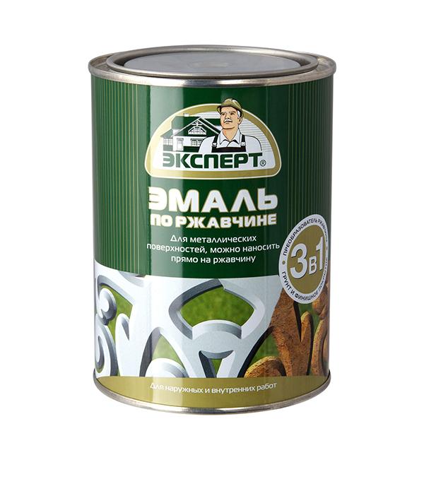 Эмаль по ржавчине алкидная RAL 6002 зеленый Эксперт 0,8 кг