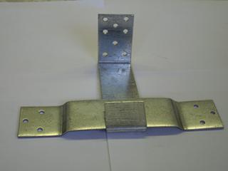Опора скользящая оцинкованная 120х90х40х2 мм