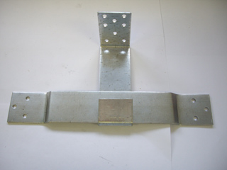 Опора скользящая оцинкованная 160х90х40х2 мм