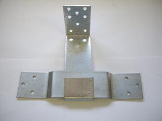 Опора скользящая  оцинкованная 90х90х40х2 мм
