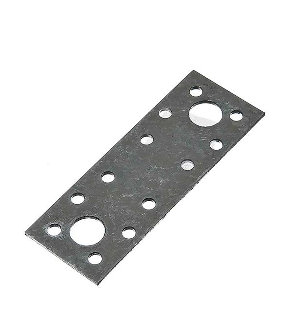 Пластина крепежная оцинкованная 100х35х2 мм пластина крепежная masterprof 130х53х2мм уп 12 шт