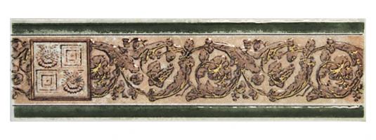 Плитка бордюр 200х57 мм Иберия зеленая
