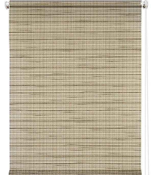 Штора рулонная 0,60х1,75 м Рига коричневый штора рулонная рига 50х175см бежевая