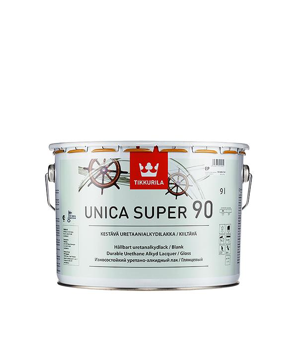 Яхтный лак Tikkurila Unica Super основа EP глянцевый 9 л  лак яхтный unica super основа ep полуматовый тиккурила 9 л