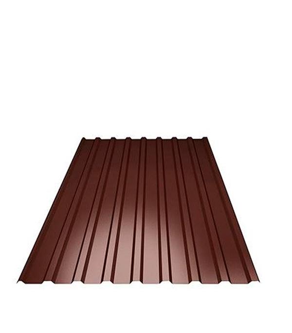 Профнастил С20 коричневый RAL8017 1.15х2.00 м толщина 0.37 мм