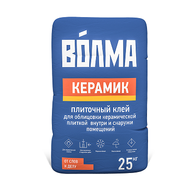 Волма Керамик (клей для плитки ), 25 кг смесь печная 25 кг