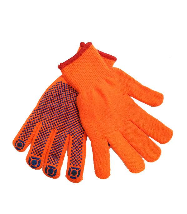 Перчатки вязаные с ПВХ покрытием универсальные