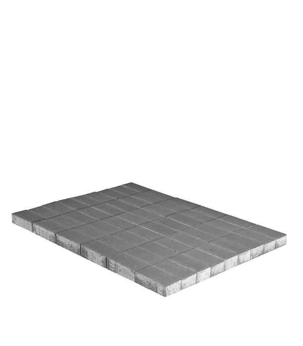 Плитка тротуарная Брусчатка (кирпичик) 120х240х70 мм серая щебень известняковый в калуге