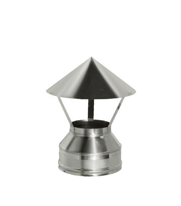 Зонт Дымок на трубу с изоляцией 150x230 отвод дымок 45° с изоляцией 150x230