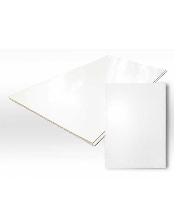 Панель ПВХ белая глянцевая 250х2700х8 мм