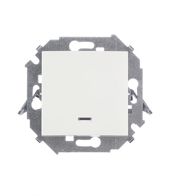 Выключатель одноклавишный Simon 15 с индикацией 16А белый выключатель одноклавишный legrandquteo о у влагозащищенный ip 44 белый
