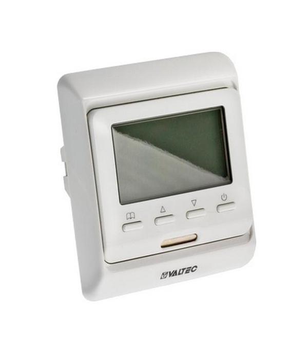 Термостат электронный программируемый жидкокристаллический с датчиком температуры пола Valtec купить датчик температуры наружного воздуха ваз
