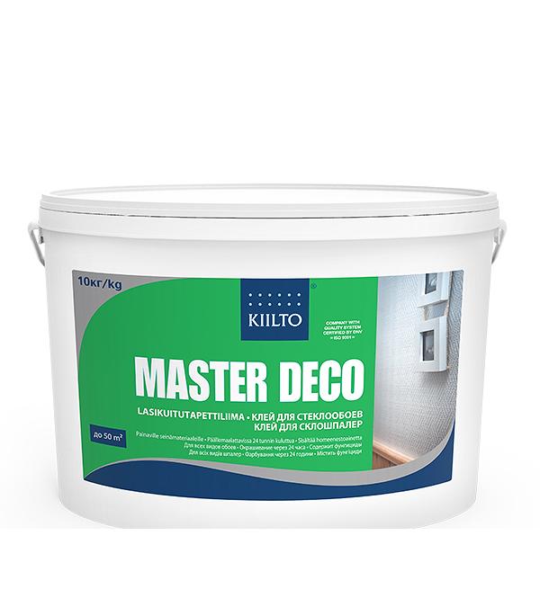 Клей для стеклообоев Kiilto Master Deco 10 л готовый клей quelyd optima для стеклообоев 15 л готовый