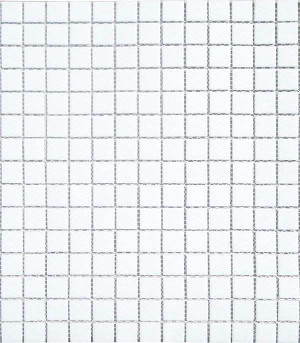 Мозаика стекломасса 327х327х4 мм белая на сетке (10 шт = 1,07 кв.м)