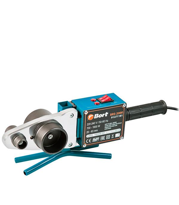 Сварочный аппарат для полипропиленовых труб Bort BRS-2000 1500 Вт аппарат для сварки полипропиленовых труб bort brs 2000