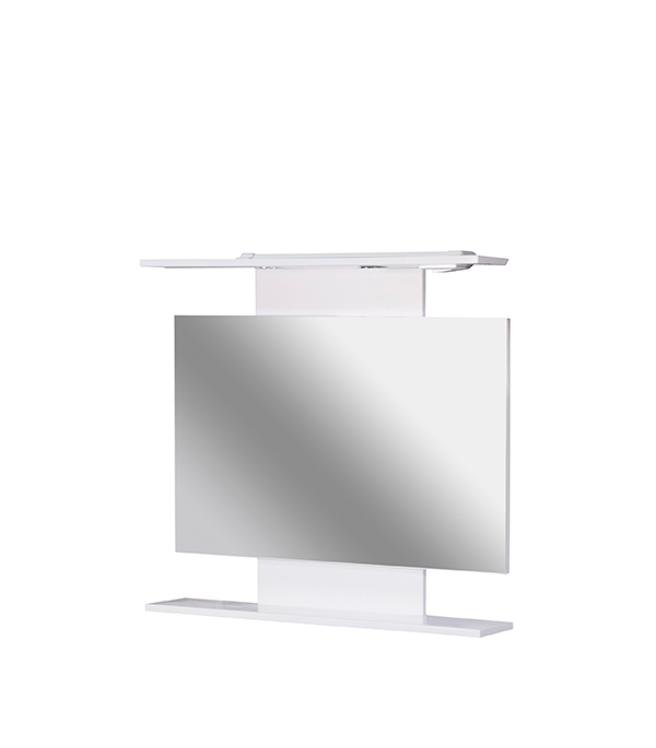 Зеркало Коралл 820 мм, с полкой зеркало для прихожей с полкой