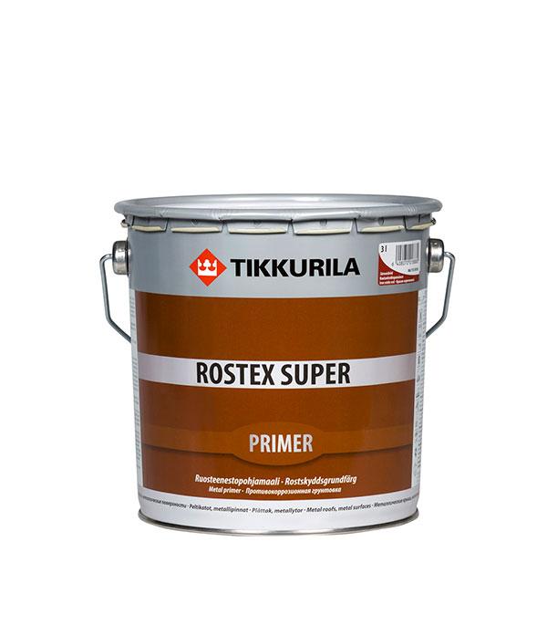 Грунт Rostex Super красно-коричневый Тиккурила 3 л