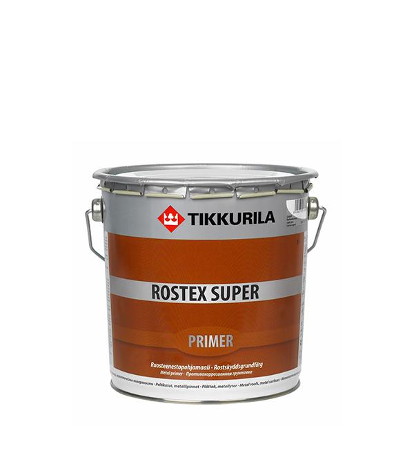 Грунт Rostex Super светло-серый Тиккурила 3 л