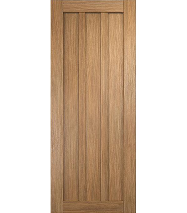 Дверное полотно экошпон Интери 3-0 Золотой дуб 800х2000 мм без притвора цена и фото