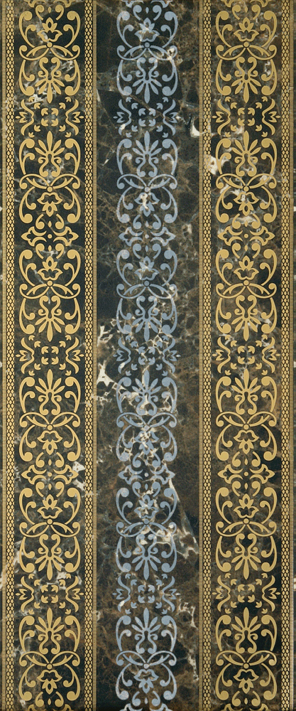 Плитка декор Богемия 250х600х9 мм коричневая 02