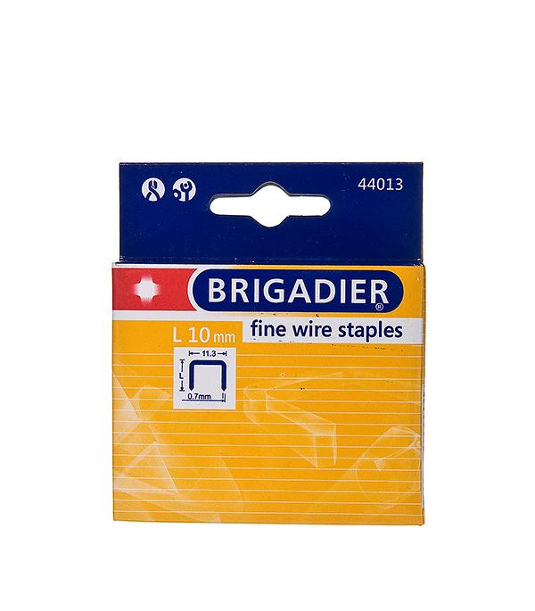 Скобы для степлера Brigadier 10 мм тип 53 (11.3х0.7) П-образные (1000 шт)