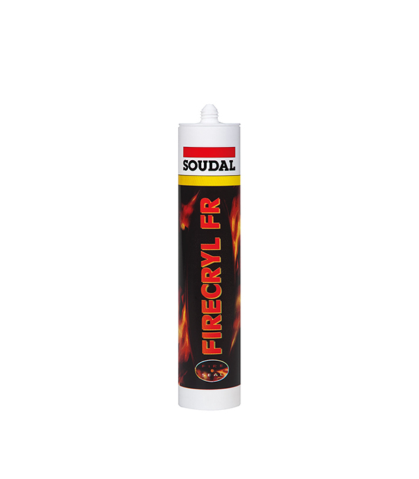 Герметик акриловый огнестойкий Soudal 300 мл белый  герметик для паркета soudal бук 300 мл
