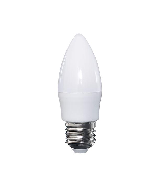 Лампа светодиодная E27 5W C37 4000K Jazzway
