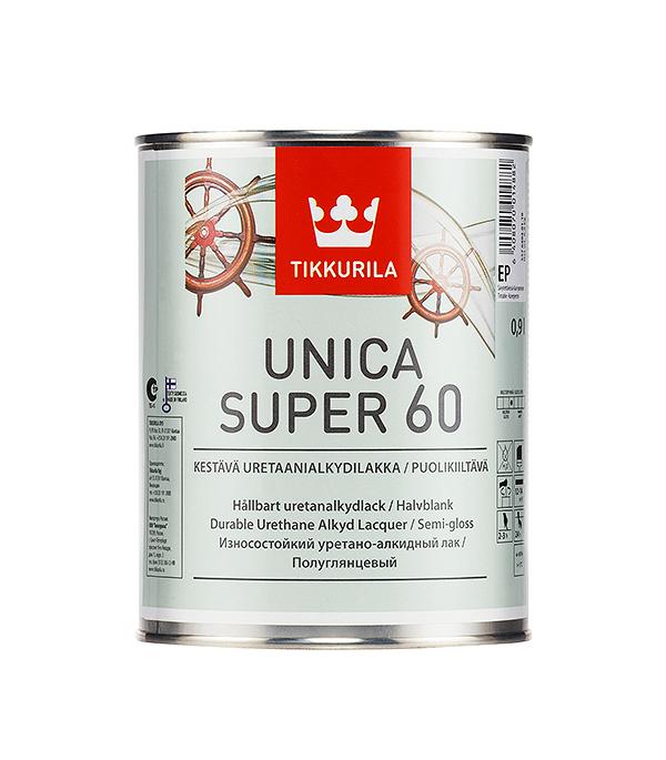 Лак яхтный Unica Super основа EP полуглянцевый Тиккурила 0,9 л