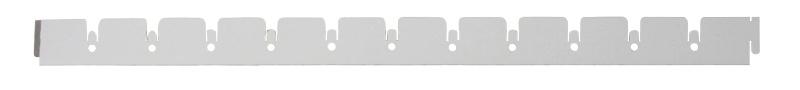Элемент решетки серый металлик «мама» 10х40х600 мм, ячейка 50х50 мм Грильято