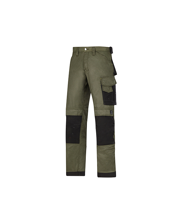 Брюки зеленые, размер 46, рост 170-182  Snickers workwear Профи