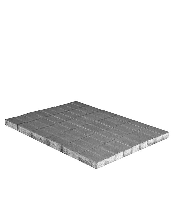Плитка тротуарная Брусчатка (кирпичик) 100х200х60 мм серая щебень известняковый в калуге