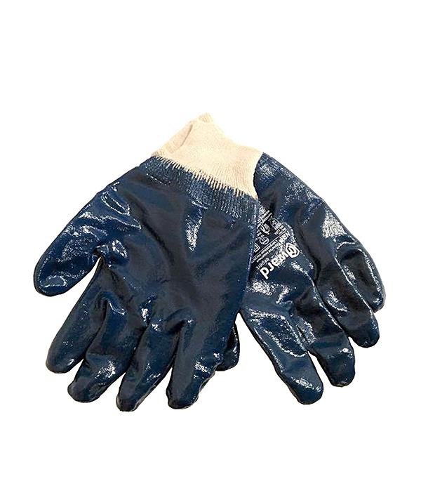 Перчатки нитриловые синие, манжета на резинке Эконом