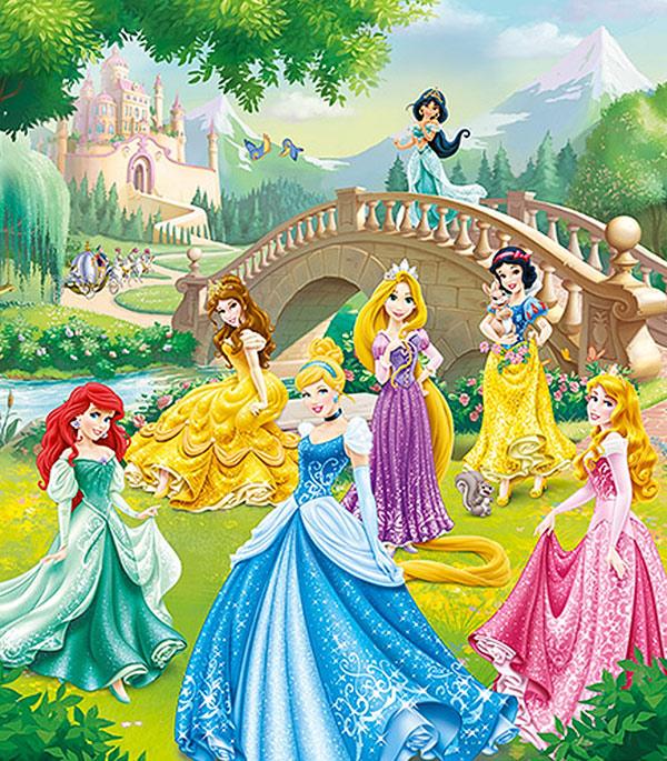 Фотообои 2,5х2,8 м 2 листа Disney Принцессы арт. 840114 OVK Design