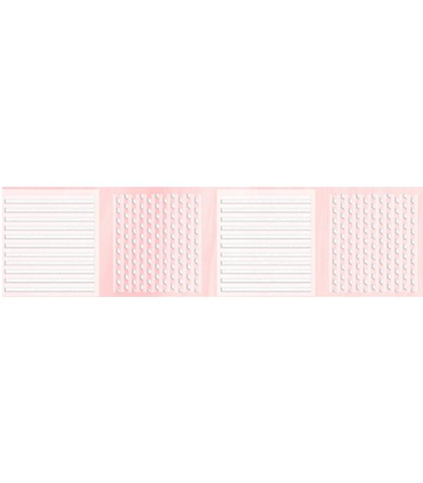 Плитка бордюр Агата В 250х65 мм розовый плитка вкз лаура зеленая в спб