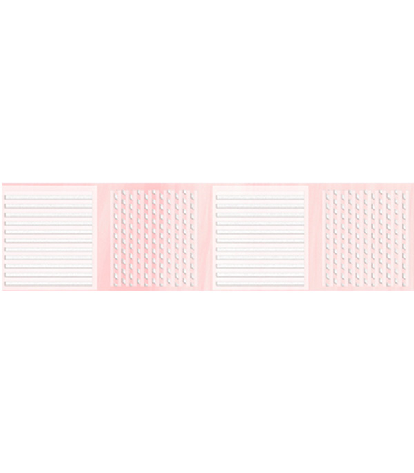 Плитка бордюр 250х65 мм Агата В розовый