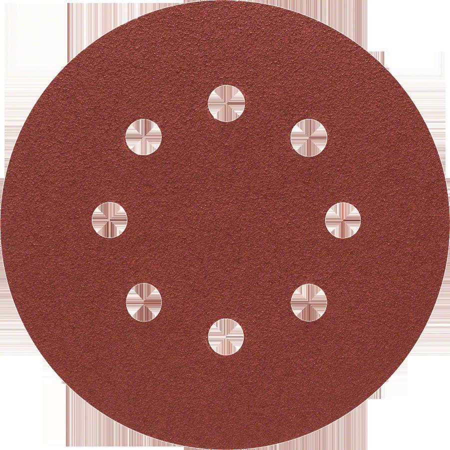 Диск шлифовальный с липучкой  Р80 d=125 мм 5 шт, перфорированный Bosch