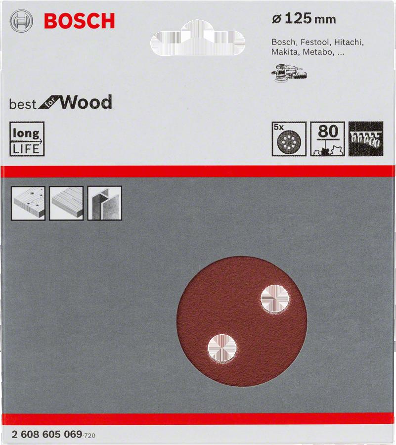 ���� ������������ � �������� �80 d=125 �� 5 ��, ��������������� Bosch �����