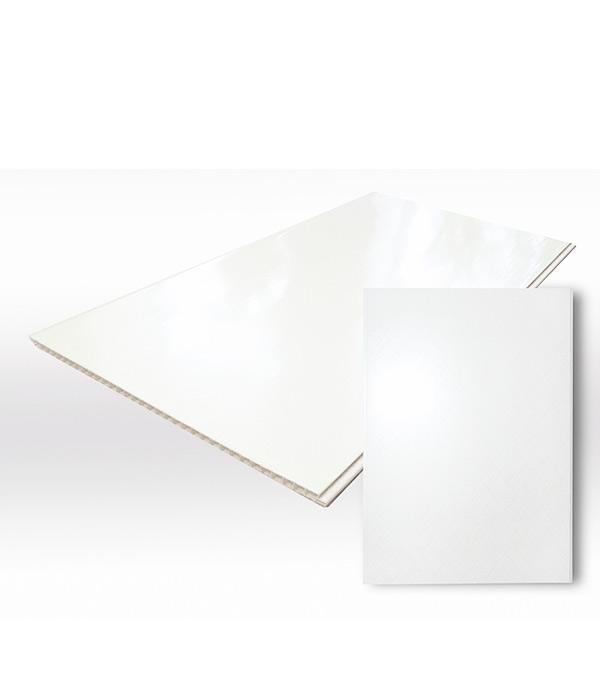 Панель ПВХ белая глянцевая 250х3000х8 мм