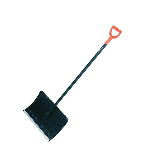 Лопата снеговая пластиковая с черенком (ручной скрепер)  540х380  Fiskars