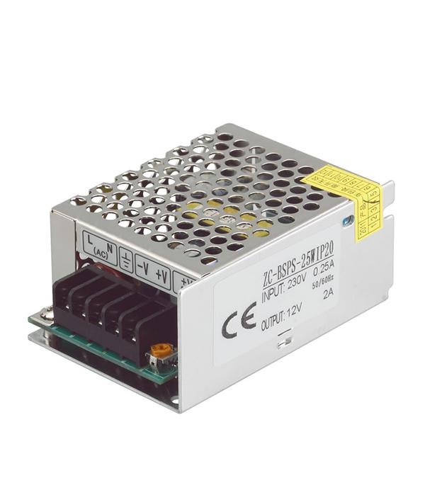 Драйвер светодиодный  25 Вт, 220В/12В, IP20, Jazzway