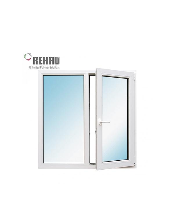 Окно металлопластиковое REHAU 1200х1000 мм белое 2 створки поворотно-откидное правое окно металлопластиковое rehau 1440х1160 мм белое 2 створки поворотно откидное правое поворотное