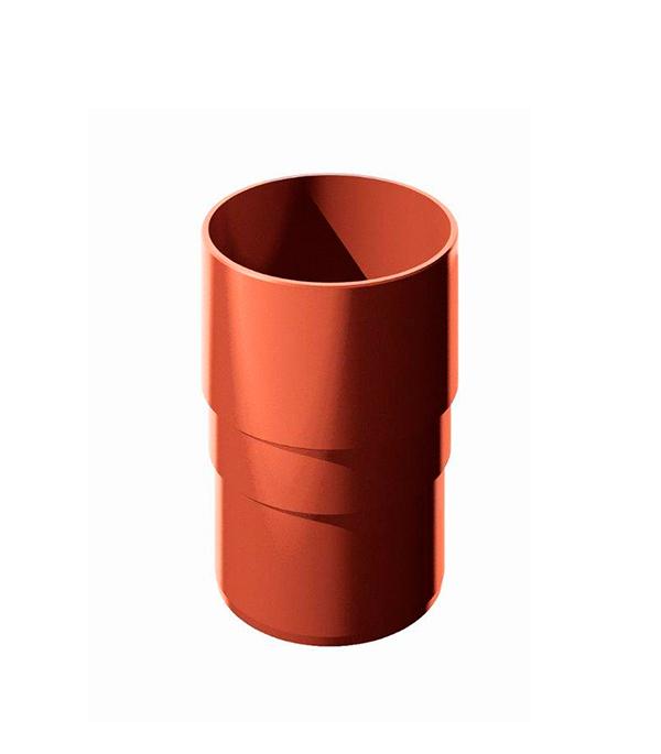 Муфта водосточной трубы пластиковая d90  мм красная Технониколь