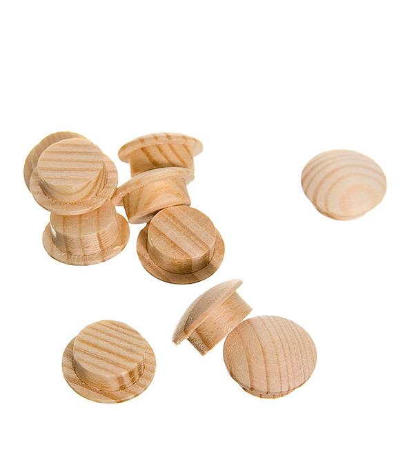 Заглушка деревянная круглая сосна диаметр 12 мм (10 шт)