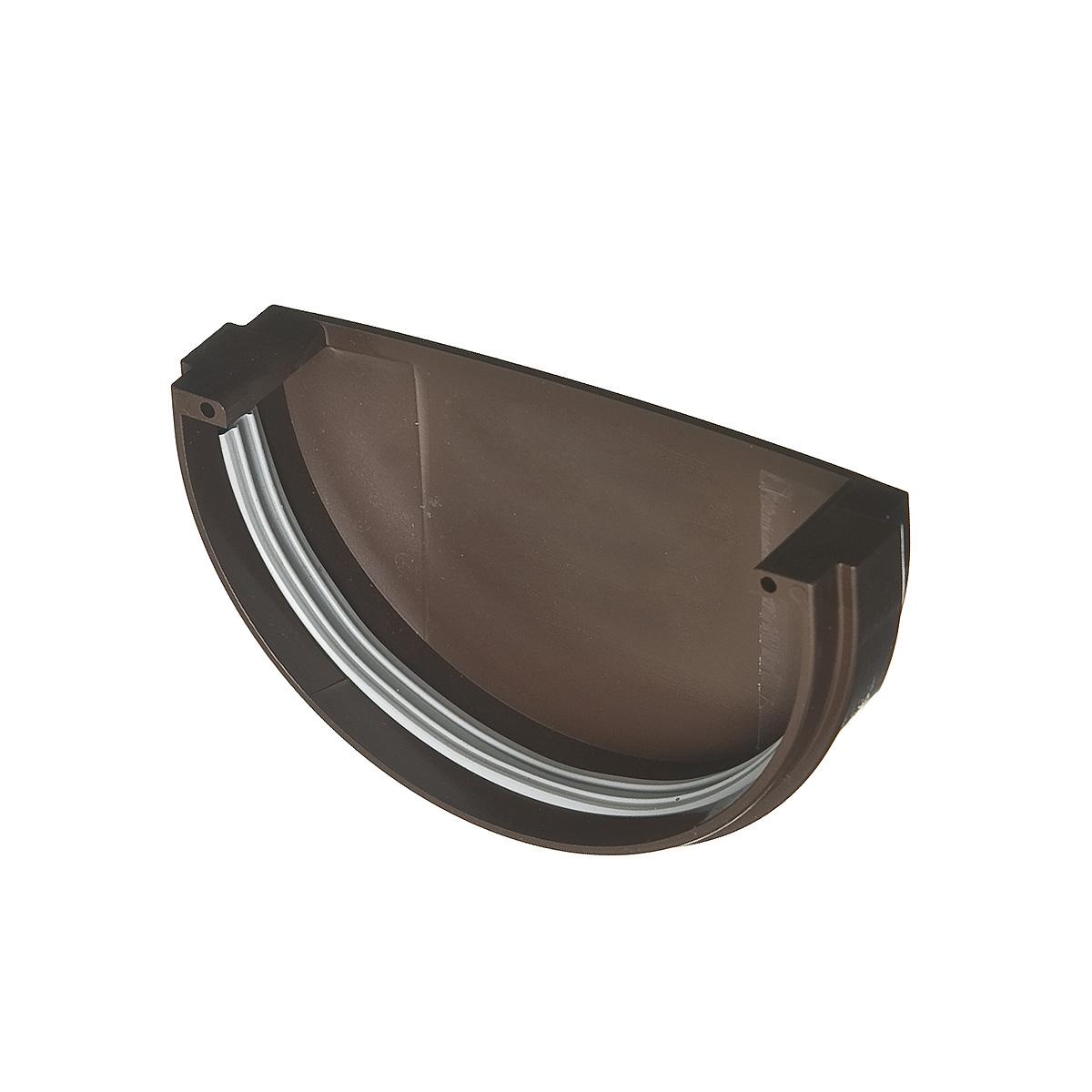 Заглушка желоба пластиковая универсальная коричневая (кофе) VINYL-ON