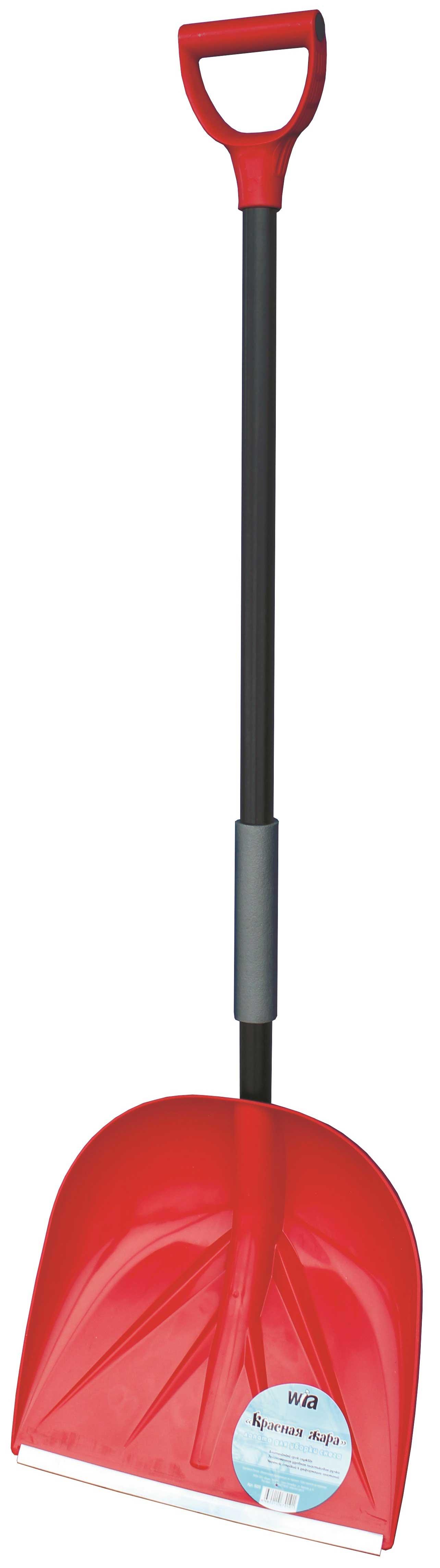 Лопата снеговая пластиковая с черенком 410х400 мм