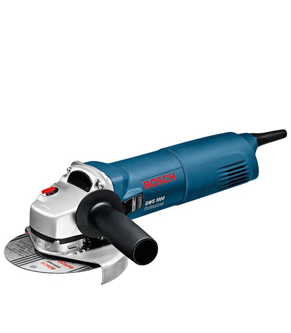 Шлифмашина угловая Bosch GWS 1000 1000 Вт 125 мм круг отрезной по металлу 125х22х1мм bosch профи